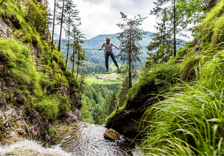 aktivurlaub, hochseigarten, klettersteig, teambuilding